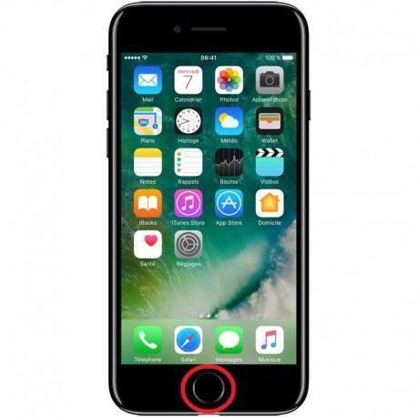 [Réparation] Nappe de Bouton HOME Noire de Jais ORIGINALE - iPhone 7
