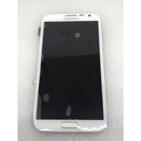 Bloc Avant ORIGINAL Blanc - SAMSUNG Galaxy NOTE 2 LTE - N7105