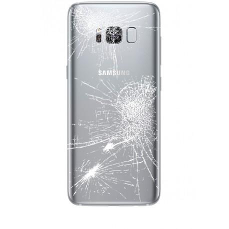 [Réparation] Vitre Arrière ORIGINALE Argent Polaire - SAMSUNG Galaxy S8 - SM-G950F