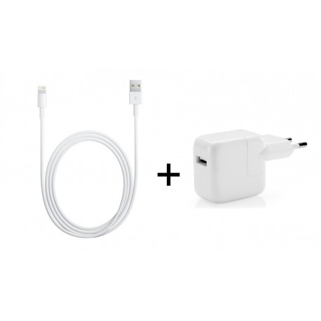 [PACK] Chargeur Secteur ORIGINAL 12W + Câble Lightning / USB ORIGINAL 2m - APPLE