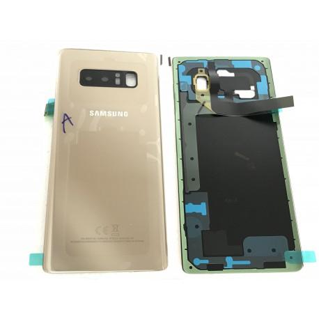 Vitre Arrière ORIGINALE OR Topaze - SAMSUNG Galaxy Note8 / SM-N950F Simple SIM