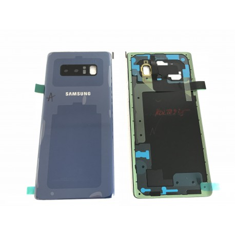 Vitre Arrière ORIGINALE Bleue Roi - SAMSUNG Galaxy Note8 / SM-N950F Simple SIM