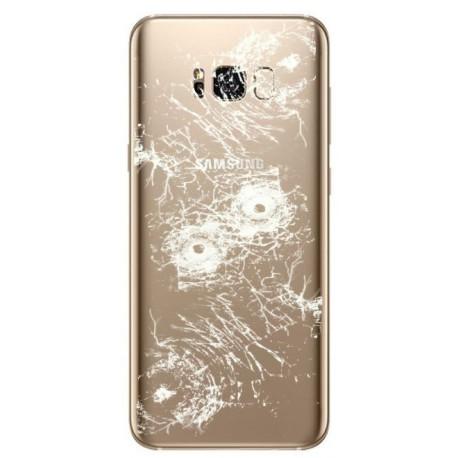 [Réparation] Vitre Arrière ORIGINALE Or Erable - SAMSUNG Galaxy S8+ - SM-G955F