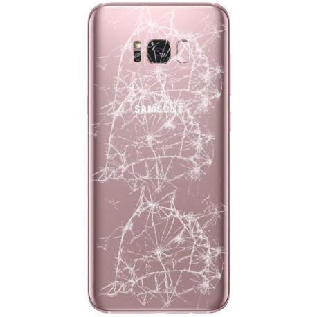 [Réparation] Vitre Arrière ORIGINALE Rose Poudré - SAMSUNG Galaxy S8 - SM-G950F