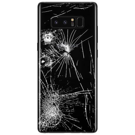 [Réparation] Vitre Arrière ORIGINALE Noire Carbone - SAMSUNG Galaxy Note8 / SM-N950F/DS Double SIM