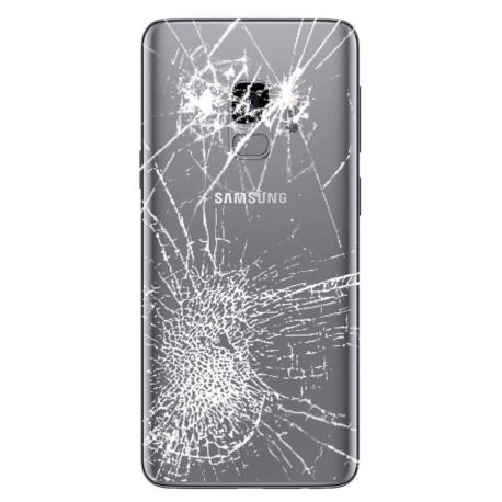 [Réparation] Vitre Arrière ORIGINALE Gris Titane - SAMSUNG Galaxy S9 / SM-G960F/DS - Double SIM
