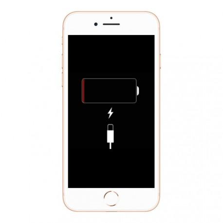 [Réparation] Connecteur de charge de qualité original blanc pour iPhone 8 Argent