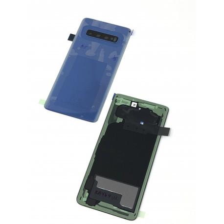 Vitre arrière ORIGINALE Bleue Prisme pour SAMSUNG Galaxy S10 - G973F - Présentation avant / arrière