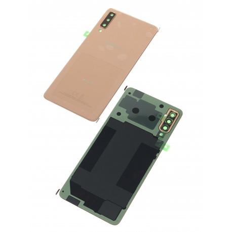 Vitre arrière ORIGINALE Or pour SAMSUNG Galaxy A7 2018 DUOS - A750F - Présentation avant / arrière