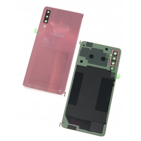 Vitre arrière ORIGINALE Rose pour SAMSUNG Galaxy A7 2018 - A750F - Présentation avant / arrière