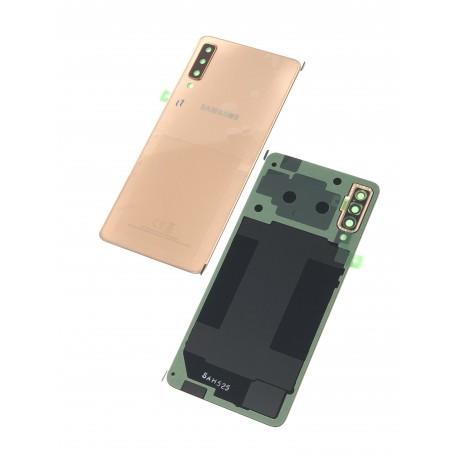 Vitre arrière ORIGINALE Or pour SAMSUNG Galaxy A7 2018 - A750F - Présentation avant / arrière