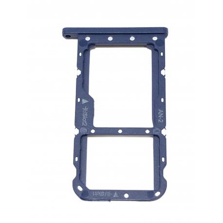 Tiroir de carte double SIM et carte SD bleu ORIGINAL pour HUAWEI P20 Lite - Présentation avant