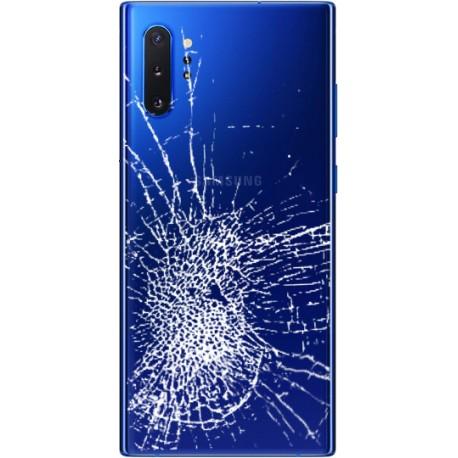 [Réparation] Vitre arrière ORIGINALE Bleue pour SAMSUNG Galaxy Note10+ - N975F