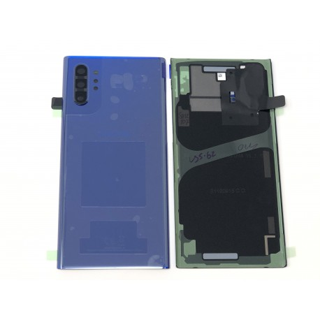 Vitre arrière ORIGINALE Bleue pour SAMSUNG Galaxy Note10+ - N975F - Présentation avant / arrière