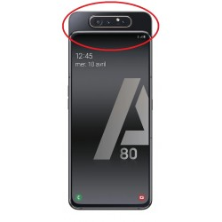 Cache arrière du slide ORIGINALE Noire pour SAMSUNG Galaxy A80 - A805F - Présentation de la position de la pièce