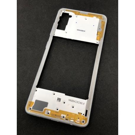 Châssis intermédiaire ORIGINAL avec contour Blanc Prismatique pour SAMSUNG Galaxy A41 - A415F - Présentation extérieure