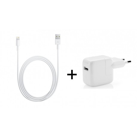 [PACK] Chargeur Secteur ORIGINAL 12W + Câble Lightning / USB 1m ORIGINAL - APPLE