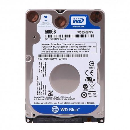 Disque Dur 2.5p - Western Digital BLUE 500GB - Sata 3
